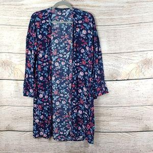 American Eagle Floral Duster Kimono Medium